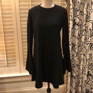 Zara black knit dress w/ bell sleeves
